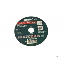 Metabo 125x1 mm Doorslijpschijf voor RVS