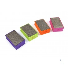 HBM 4 Delige Diamant Wetstenenset met Foam Soft Grip Handvatten