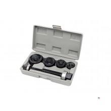 HBM 4 delige Plaatpons / Schroefpons set