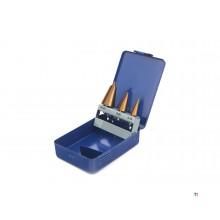 HBM 3 Delige Conische Plaatborenset met Tin Coating
