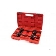 HBM 1 Ton 325 mm. Professionele Veerspanner set van 2 stuks