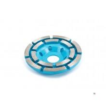 Silverline 100 mm Diamant Komschijf met Dubbele Rij