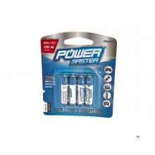 Silverline AAA Super Alkaline Batterij LR03 - 4 Stuks