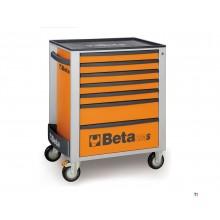 Beta 7 Laden Gereedschapswagen Oranje - C24S 7/O - 024002071