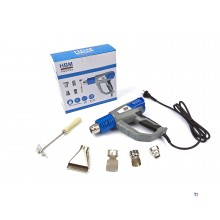 HBM Verstelbaar Heteluchtpistool Deluxe 2000 Watt inclusief 6