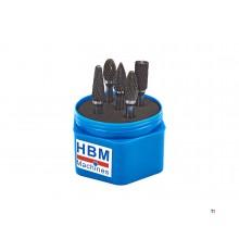 HBM 5 Delige Volhardmetalen Widia Frezensett