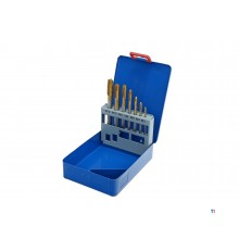 HBM 7 Delige HSS - Tin Gecoate Cobalt Machinetapset M3-12