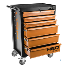 neo tool cart 6 drawers central lock