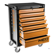 neo tool trolley 7 drawers central lock
