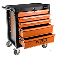 neo tool trolley 5 drawers central lock