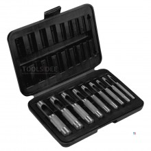 TOPEX hollepijpset 9 delig 3-12mm