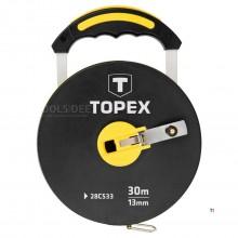 TOPEX landmeter 100 mtr fiberglas 13mm band
