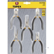 topex mini pliers set 5 pcs with spring