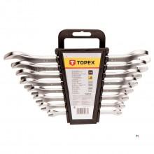TOPEX åpen nøkkel sett 6-22mm 8 deler