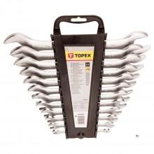 Jeu de clés ouvertes topex 6-32mm 12 pcs