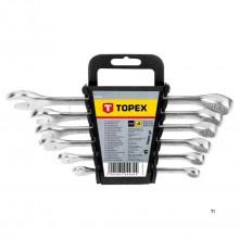 set anello topex / chiavi 8-17 mm 6 pz
