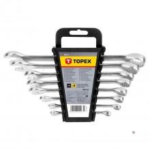 Anello TOPEX / set chiavi inglesi 6-19mm 8 parti
