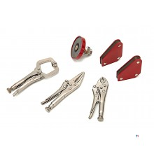 HBM 6-piece welding magnets and locking pliers set