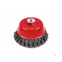 HBM cup brush / wire brush for the angle grinder with twisted wire