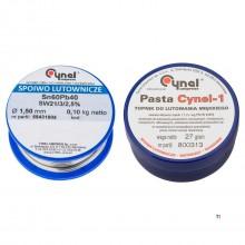 TOPEX cynel soldeerset, tin 1,5mm +100gr soldeerpasta sn60%