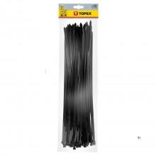 cablu TOPEX cravată x 500mm negru 7,6 75 bucăți