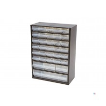 raaco 34 drawers metal chest of drawers with 10 dividers