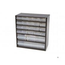 cassettiera in metallo raaco 24 cassetti con 10 divisori