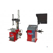weber profi tire dismantling machine with auxiliary arm and tire balancing machine set