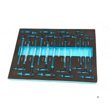 HBM 18 pieza inlay manijas en T Espuma para carro de herramientas