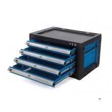 armoire à outils hbm 4 tiroirs - bleu
