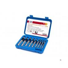 Ensemble de 9 tubes creux hbm 2,5 - 10 mm.