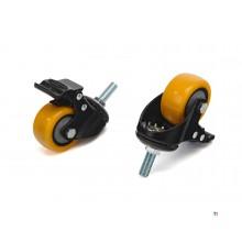 HBM profi 50 mm.Lenkrolle mit Gewindestange und Bremse