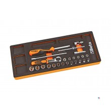 Beta M91 - 25 Stykke 1/4 Socket Set Inlay Skum