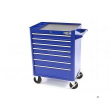 Carrello portautensili HBM 7 cassetti - blu