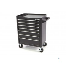 HBM 7 drawers tool trolley - black