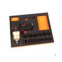 beta m310 - Mousse d'insertion de clé à chocs 1/2 14 pièces