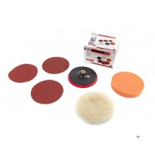HBM 7-piece sanding and polishing set 150 mm for polisher, grinder or drill