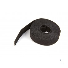 Silverline Black Velcro Strap 25 mm x 5 Meter