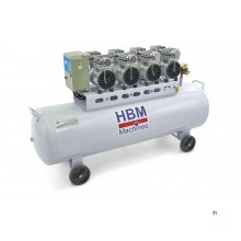 HBM 200 liter professional low noise compressor
