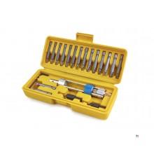 HBM 20-teiliges Wechselbohrersatz, Wendebithalter mit Senkung