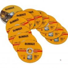 DeWalt DT3507 disco de corte - 125 x 22,23 x 1,0 mm - de acero inoxidable - Inox (10pcs) - DT3507-QZ