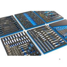 HBM 245 Piece Premiuw værktøjsopfyldning til værktøjsvogn - BLÅ - brugt