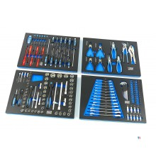 HBM 154-piece premium tool refill for tool trolley - blue