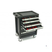 HBM 154-piece premium filled tool trolley - black
