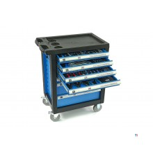 HBM 154-piece premium filled tool trolley - blue