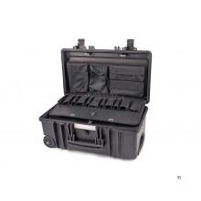 Apox GT-LINE Valise à outils étanche professionnelle PTS avec roues et poignée télescopique GT 51-22