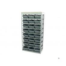 armoire de cuisson hbm, système de rangement, grille avec 24 bacs de rangement