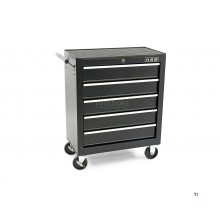 HBM 5 drawers tool trolley small - black - model 2