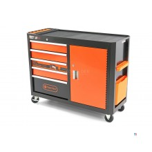 Tactix 115 cm Tool trolley, Workbench 5 Drawers with Door