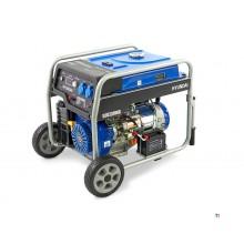 Generatore Hyundai HHY7000Fe, aggregato 5,5 Kw, motore a benzina OHV 389cc
